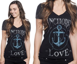 Women's Anchored Love T