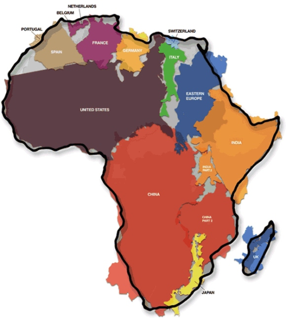 The Actual Size of Africa